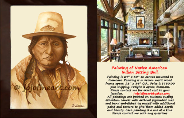 native american indian paintings art by joanne witalec. Black Bedroom Furniture Sets. Home Design Ideas