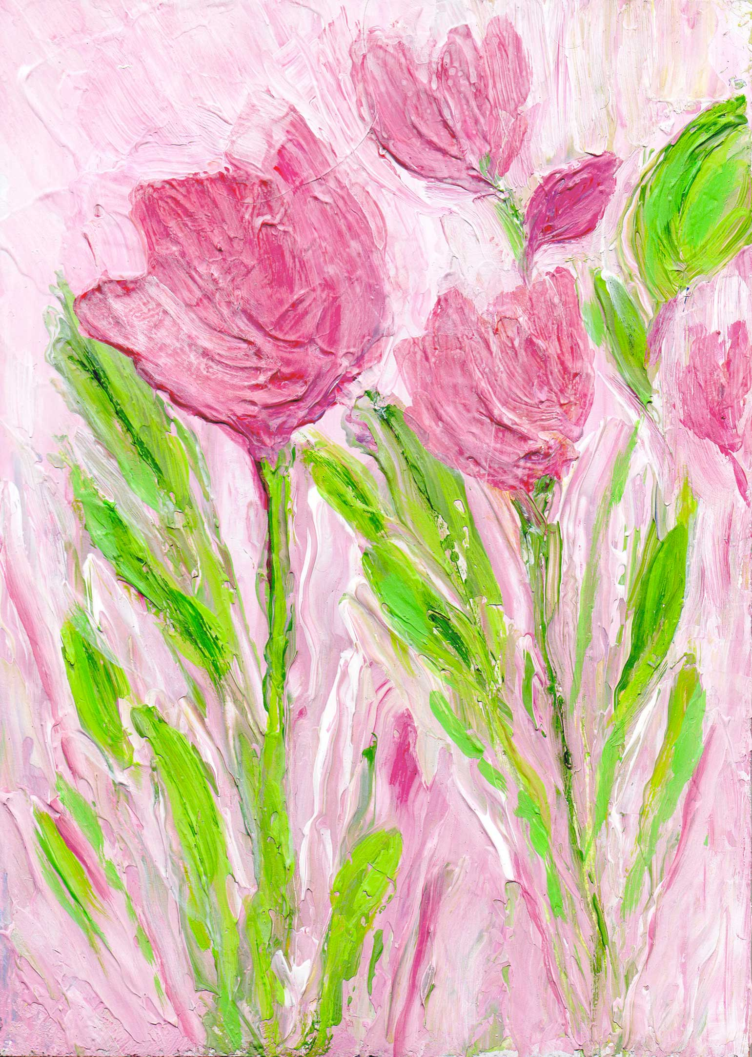 Flower paintings art by joanne witalec pink tulip painting by joanne witalec jojofineart mightylinksfo
