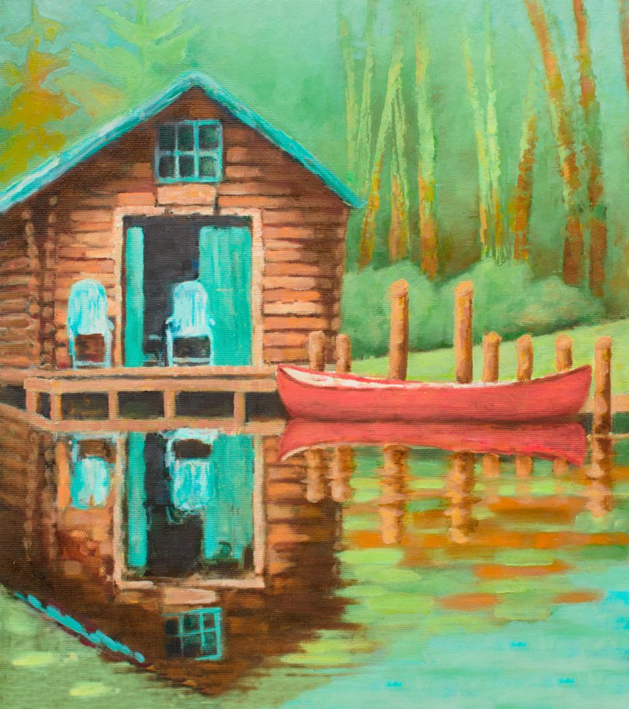 Lake House Love In Michigan: Some Of My New Paintings